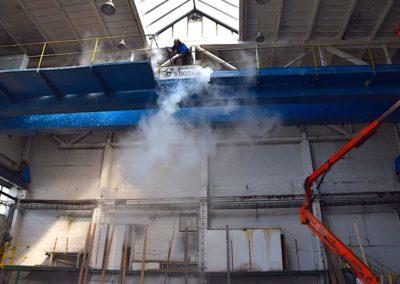 Parní čištění stropních jeřábů 05