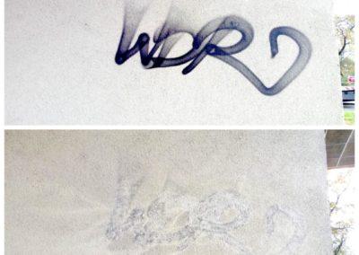 Parní odstranění graffiti 03