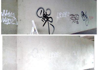 Parní odstranění graffiti 04